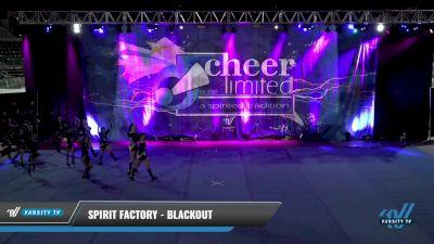 Spirit Factory - Blackout [2021 L2 Junior - Small - B] 2021 Cheer Ltd Open Championship: Trenton
