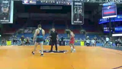 97 kg Rr Rnd 3 - Miguel Baray, River Valley Wrestling Club vs Duncan Lee, Iowa