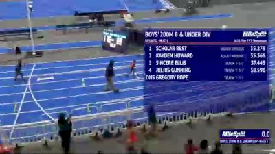 Youth Boys' 200m, Finals 2 - Age under 8