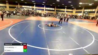 65 lbs Round Of 16 - Austin Armstrong, East Idaho Elite vs Rylan Zinkin, Dethrone