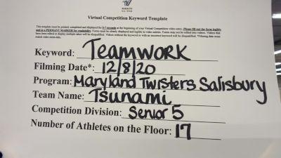 Maryland Twisters Salisbury - Tsunami [All Star L5 Senior] Varsity All Star Virtual Competition Series: Event VII