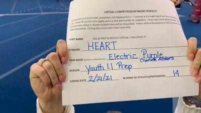 Charlotte Allstar Cheerleading - Electric [L1.1 Youth - PREP] 2021 Varsity Rec, Prep & Novice Virtual Challenge IV