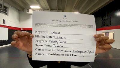 Velocity Dance - Passion [Junior - Contemporary/Lyrical] 2021 Coastal at the Capitol Virtual National Championship