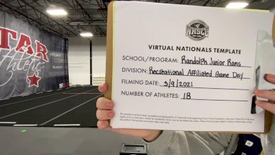 Randolph Junior Rams [Virtual Recreational Affiliated Game Day Semi Finals] 2021 UCA National High School Cheerleading Championship