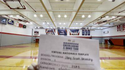 Stony Brook University [Division I Pom Virtual Semi Finals] 2021 UCA & UDA College Cheerleading & Dance Team National Championship
