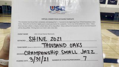 Thousand Oaks High School [Jazz Varsity - Small Prelims] USA Spirit & Dance Virtual National Championships
