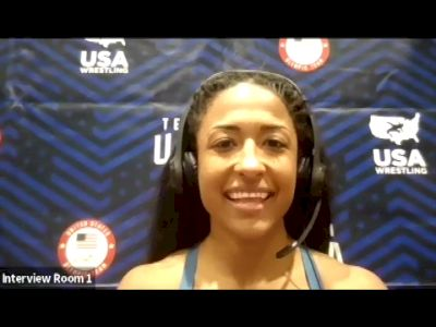 Victoria Anthony (50 kg) after quarterfinal win at 2021 Olympic Trials