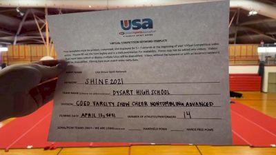 Dysart High School [Coed Varsity Show Cheer Non Tumbling Advanced Prelims] USA Spirit & Dance Virtual National Championships