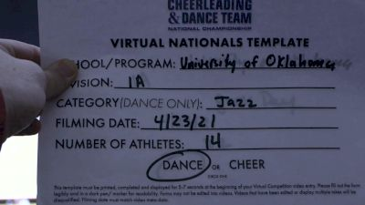 University of Oklahoma [Divison IA Jazz Virtual Finals] 2021 UCA & UDA College Cheerleading & Dance Team National Championship
