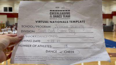 Schreiner College [Virtual Small Coed Game Day - Cheer Finals] 2021 UCA & UDA College Cheerleading & Dance Team National Championship