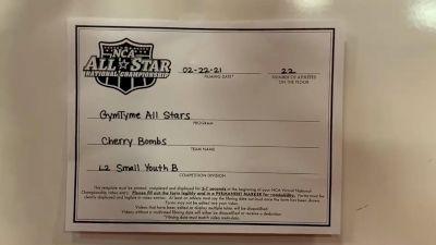 Gym Tyme - Cherry Bombs [L2 Youth - Small - B] 2021 NCA All-Star Virtual National Championship