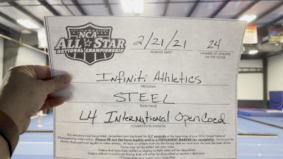INFiNiTi Athletics - Steel [L4 International Open Coed] 2021 NCA All-Star Virtual National Championship