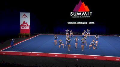 Champion Elite Legacy - Storm [2021 L3 Junior - Small Semis] 2021 The D2 Summit