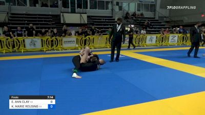 Elisabeth Clay Submits Kendal Reusing With Armlock at 2021 IBJJF No-Gi Pans