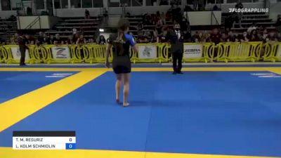 TAYLER M. RESURIZ vs LAURA KOLM SCHMIDLIN 2021 Pan IBJJF Jiu-Jitsu No-Gi Championship