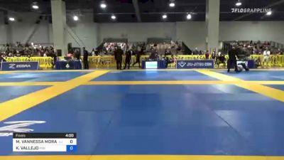 MONICA VANNESSA MORALES vs KIMBERLY VALLEJO 2021 American National IBJJF Jiu-Jitsu Championship