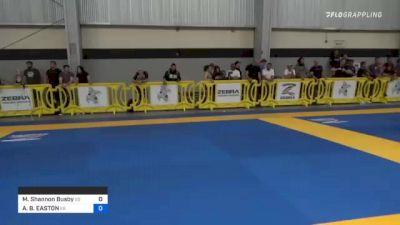 Michael Shannon Busby vs AMAL B. EASTON 2021 Pan IBJJF Jiu-Jitsu No-Gi Championship