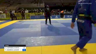 GUSTAVO ESPINDOLA BATISTA vs FELLIPE ANDREW LEANDRO SILVA 2020 Pan Jiu-Jitsu IBJJF Championship