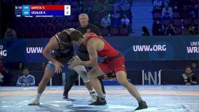 97 kg Repechage #2 - Yevhenii Saveta, Ukraine vs Peter Oehler, Germany