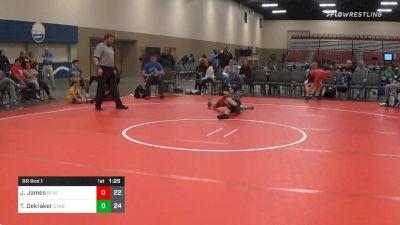 Prelims - Jayden James, Buxton Extreme (NJ) vs Tyler Dekraker, Dynasty No Limit (NJ)