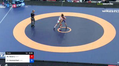 55 kg Final - Max Nowry, Army (WCAP) vs Sam Hazewinkel, Sunkist Kids Wrestling Club