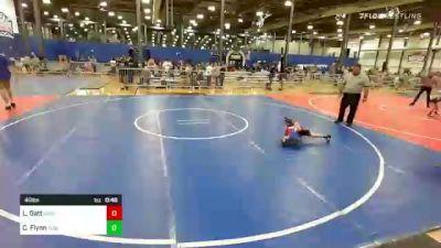 40 lbs Quarterfinal - Liam Gatt, Backyard Brawlers vs Connor Flynn, Summit Wrestling Academy