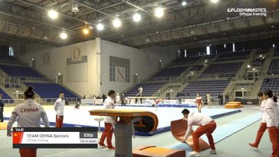 Team China Seniors - Vault, Official Training - 2019 City of Jesolo Trophy