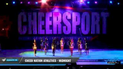 Cheer Nation Athletics - Midnight [2021 L4 Junior - D2 - Small Day 2] 2021 CHEERSPORT National Cheerleading Championship