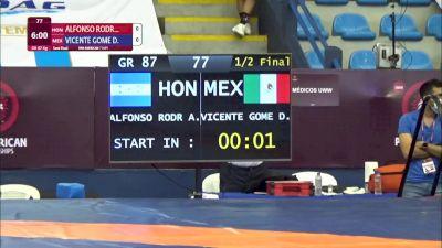87 kg Semifinal - Ariel Andres Alfonso Rodriguez, Honduras vs Daniel Vicente Gomez, Mexico