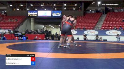 130 kg Round 2 - Lee Herrington, Nebraska Golden Eagles Wrestling Club vs Cohlton Schultz, Sunkist Kids Wrestling Club