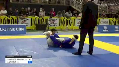 THIAGO AUGUSTO ARAUJO MACEDO vs MICHAEL LAVIOLA 2021 Pan Jiu-Jitsu IBJJF Championship
