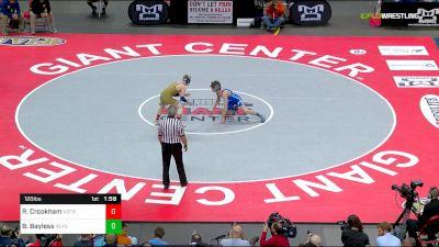 120 lbs Final - Ryan Crookham, Notre Dame - GP vs Beau Bayless, Reynolds