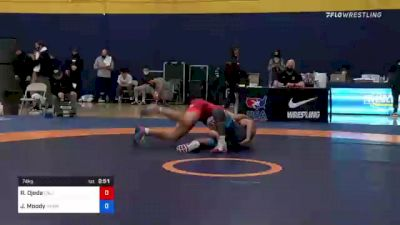 74 kg Consi Of 16 #2 - Ryan Ojeda, California vs Jeremiah Moody, Hawkeye Wrestling Club