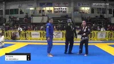 KATHLEEN EGAN vs MARGOT CICCARELLI 2020 American National IBJJF Jiu-Jitsu Championship