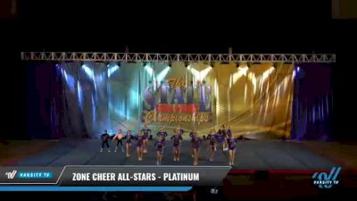 Zone Cheer All-Stars - Platinum [2021 L4 Junior - D2 Day 2] 2021 The STATE DI & DII Championships