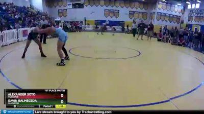 145 lbs 1st Place Match - Alexander Soto, Riverdale vs Gavin Balmeceda, Gladiator