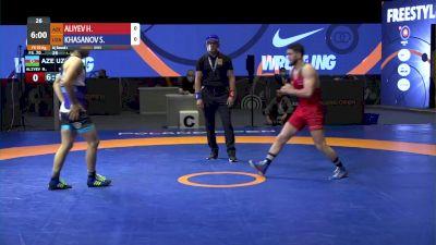70 kg Match - Haji Aliyev, AZE vs Sirojiddin Khasanov, UZB