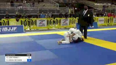 GABRIELLA LOVE PEREZ vs CAROLINA VIEIRA DO CARMO MASSOT 2021 Pan Jiu-Jitsu IBJJF Championship