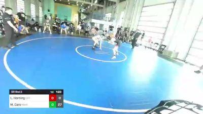 138 lbs Rr Rnd 3 - Logan Horning, Dirty Birds vs Marcus Caro, Rbwc