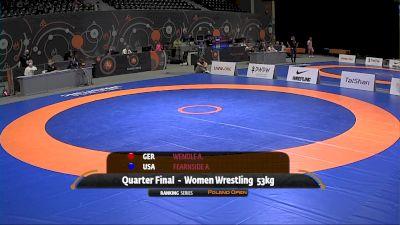 53kg Quarter-Final - Amy Fearnside, USA vs Annika Wendle, GER