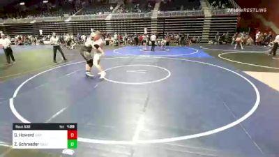 285 lbs Rr Rnd 4 - Gage Howard, Uintah vs Zachary Schraeder, Columbine