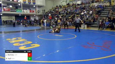155 lbs Semifinal - Jesse Barkley, Latrobe vs Adam Hall, Penn Trafford