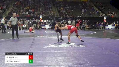 141 lbs Quarterfinal - Tristan Moran, Wisconsin vs Zach Sherman, North Carolina