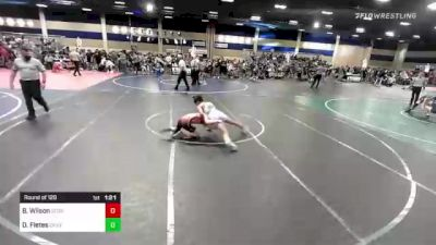 120 lbs Round Of 128 - Beau Wilson, Scorpians vs David Fletes, Canyon Springs