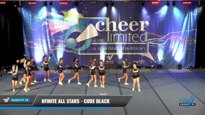 NFINITE All Stars - CODE BLACK [2021 L3 Junior - D2 - Small] 2021 Cheer Ltd Open Championship: Trenton