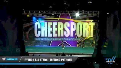 Python All Stars - Inferno Pythons [2021 L3 Junior - Medium - A Day 2] 2021 CHEERSPORT National Cheerleading Championship