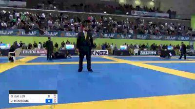 GABRIEL ALMEIDA vs JOSÉ HENRIQUE CARDOSO 2019 European Jiu-Jitsu IBJJF Championship