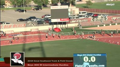 High School Boys' 300m Hurdles Elite, Finals 3
