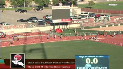 High School Boys' 300m Hurdles Elite, Finals 3