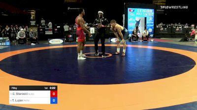 79 kg Rnd Of 16 - Carter Starocci, Nittany Lion Wrestling Club vs Taylor Lujan, Panther Wrestling Club RTC